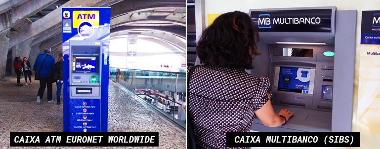 Caixa ATM Euronet Worldwide e Caixa Multibanco SIBS