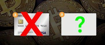 Cartão Bitcoin Visa suspensa. Qual é a alternativa?