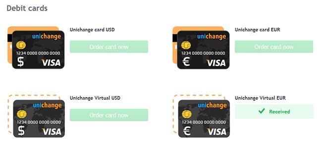 Cartão de Débito Unichange VISA