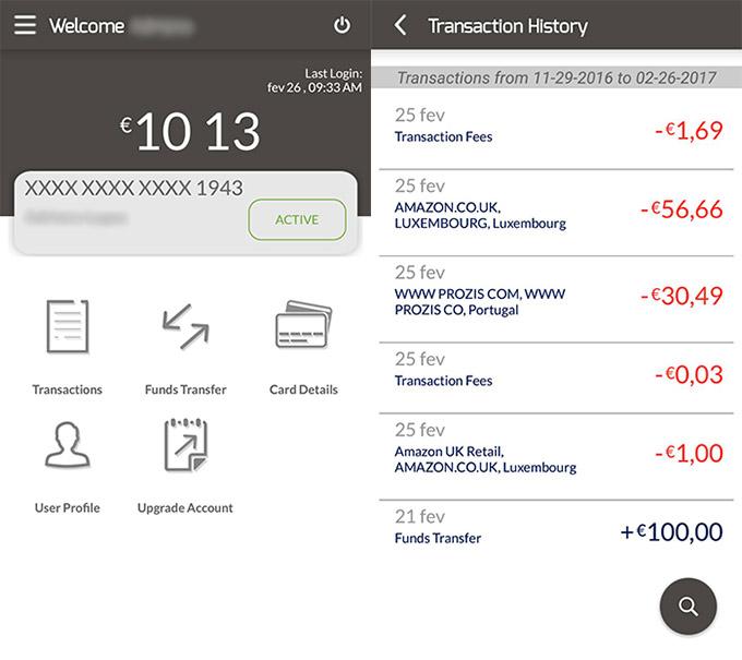 Prova do Cartão de Débito Virtual Unichange