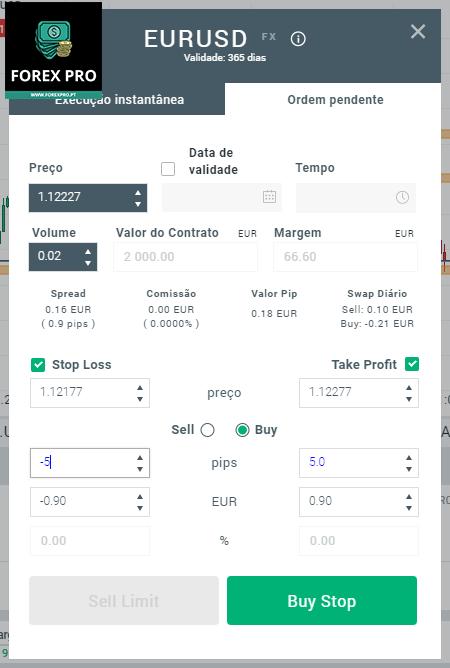 Como criar ordens pendentes na plataforma xStation da corretora XTB