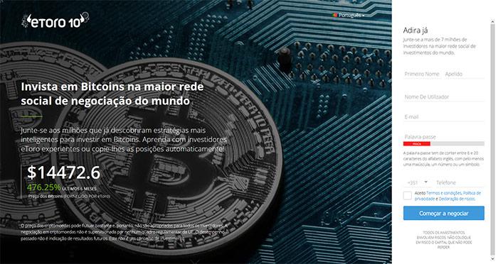 Como investir em Bitcoin no ETORO