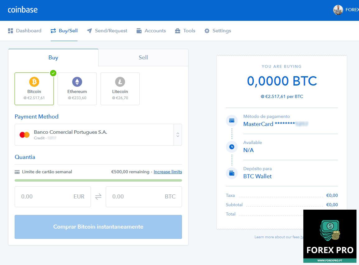 Site Coinbase para comprar Bitcoins, Ethereum e Litecoin