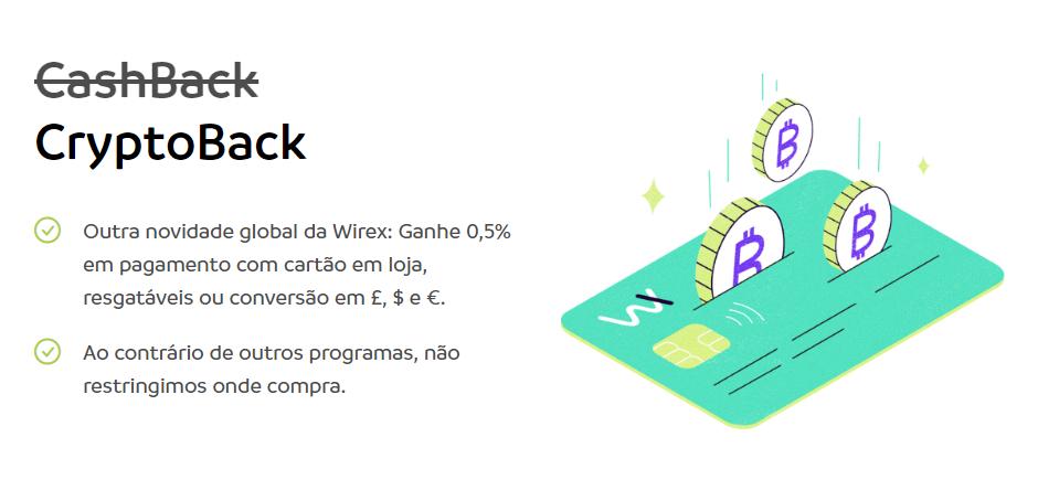 Cryptoback para o Cartão Wirex