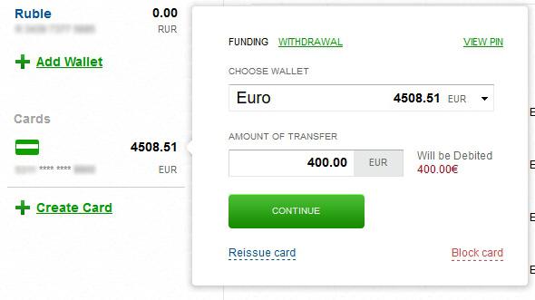 Usar o cartão Advcash com Bitcoin