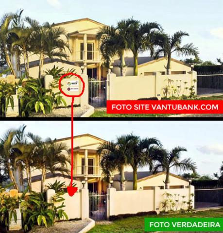 Descobre as diferenças entre as duas fotos. A foto falsa e a foto original.