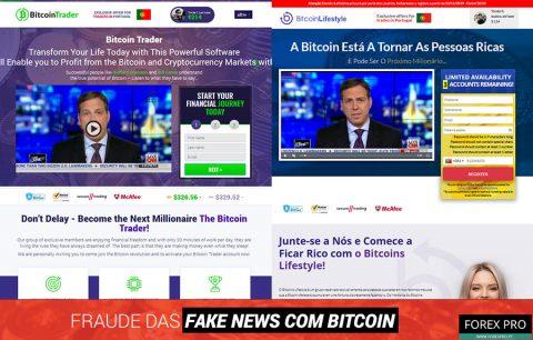 Fraude fake news Bitcoin com os sites Bitcoin Lifestyle e Bitcoin Trader