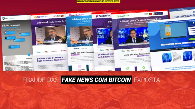 Como funciona a fraude da Fake News de Bitcoin