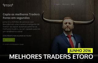 Melhores Traders ETORO de junho 2016