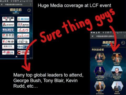 A mentira da conferência LCFHC com líderes globais