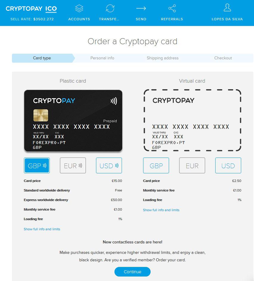 Como pedir o novo Cartão Bitcoin Contactless da Cryptopay