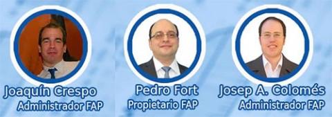 Pedro Fort e cúmplices nos seus esquemas.