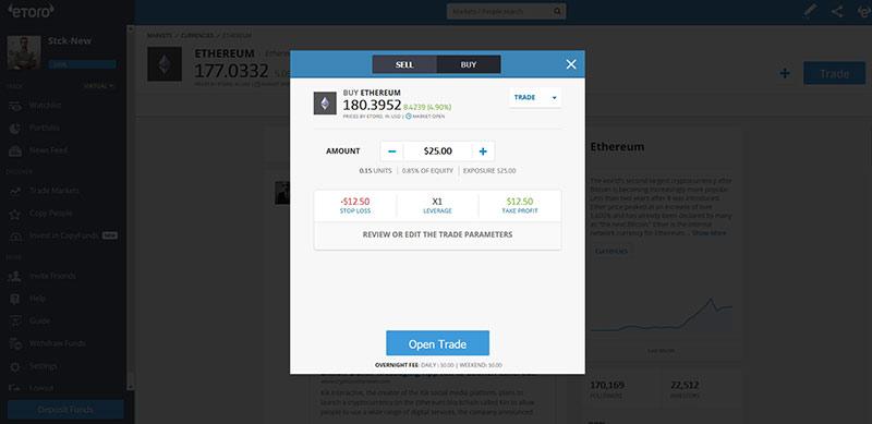 Plataforma Etoro Trading Ethereum