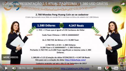 Mentira dos 1380 dólares no scam LCFHC