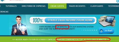 Promessa dinheiro fácil a cada 30 minutos