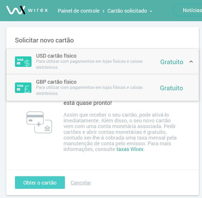Solicitar Cartão Bitcoin Visa Wirex Grátis